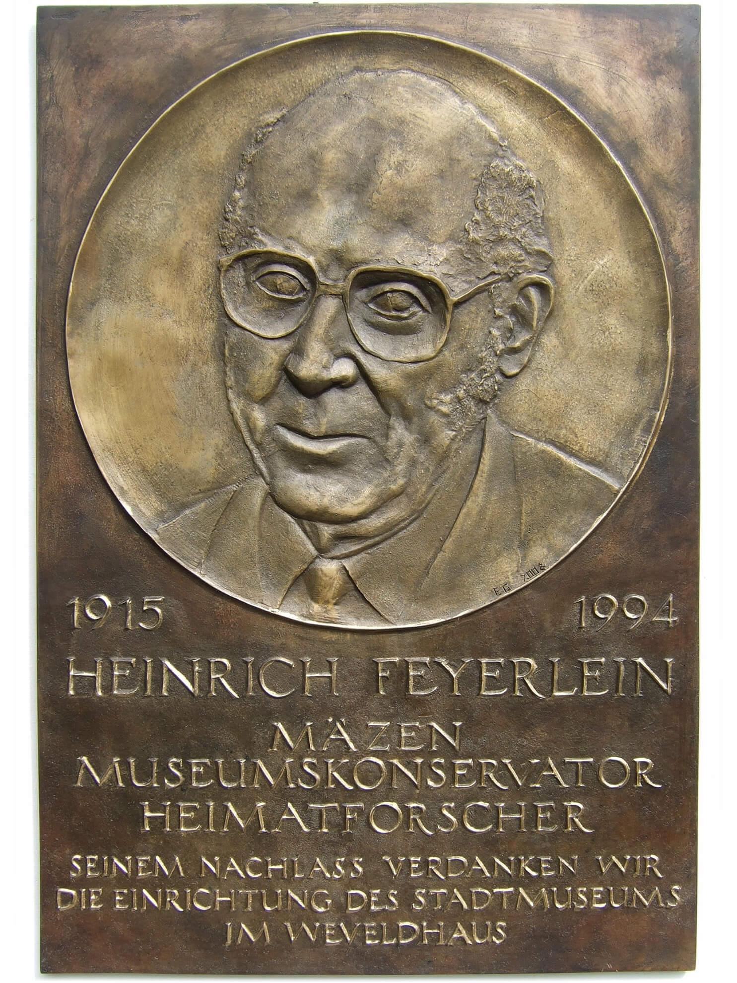 Heinrich Feyerlein, 2008, Bronze
