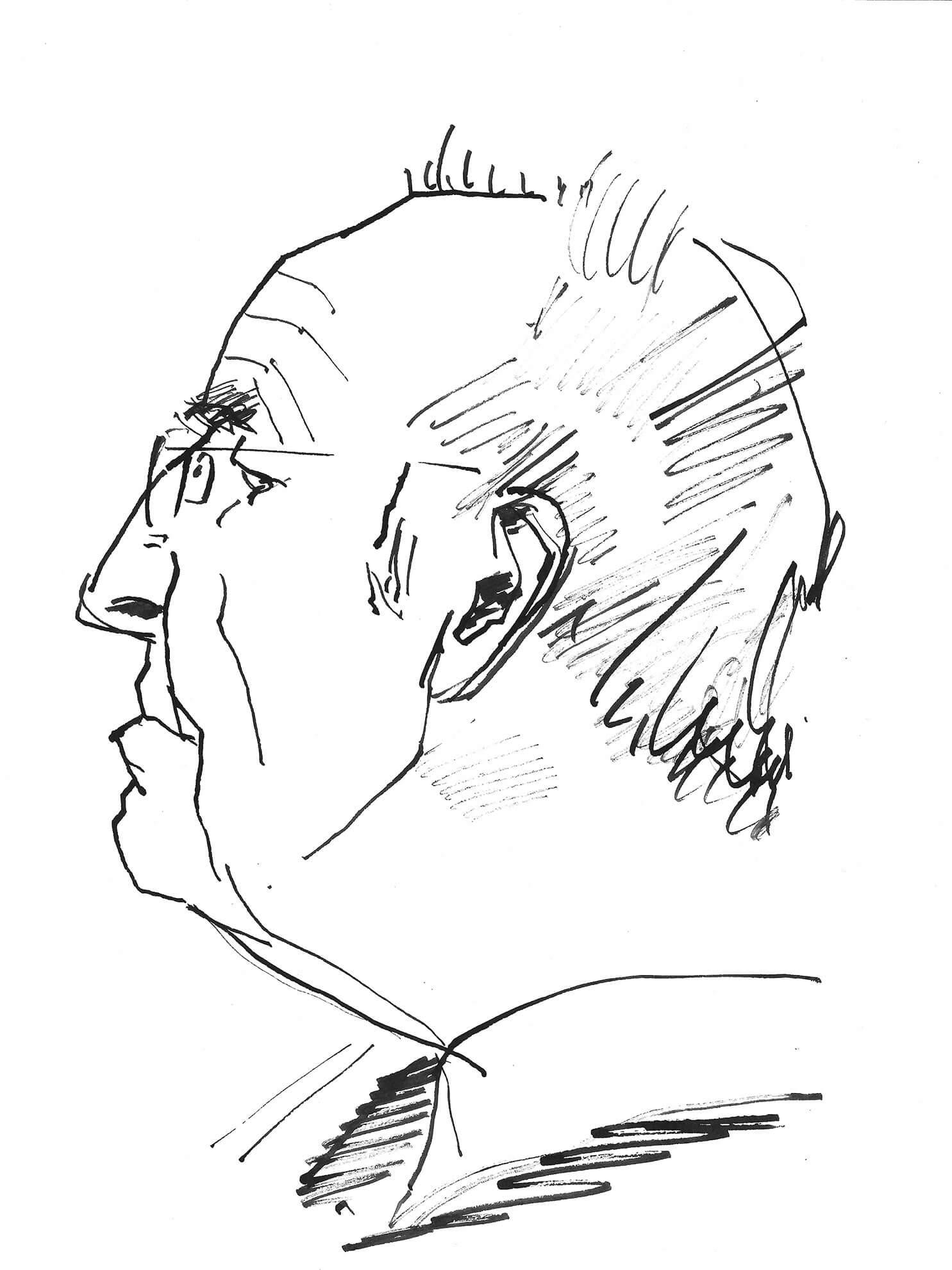 Hermann Schröder, 2012, Zeichnung